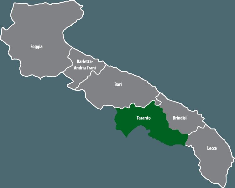 Wochenmärkte in der Provinz Tarent (TA)