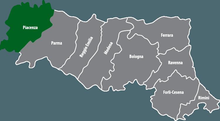 Wochenmärkte in der Provinz Piacenza (PC)