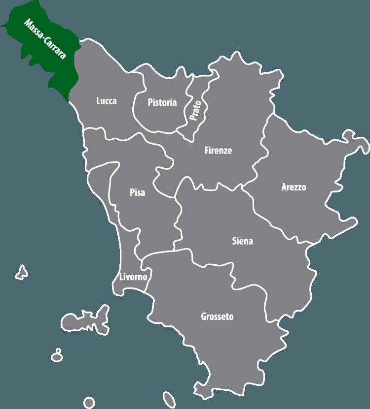 Wochenmärkte in der Provinz Massa-Carrara (MS)