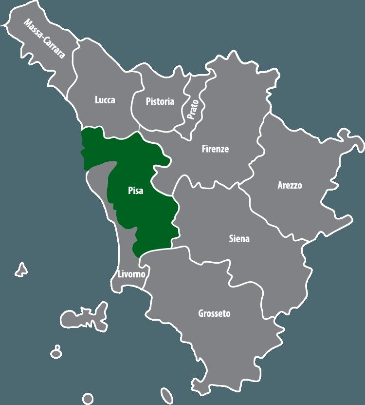 Wochenmärkte in der Provinz Pisa (PI)